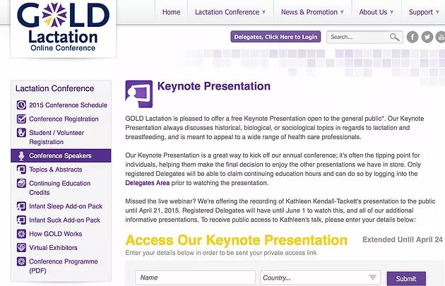 GOLD Lactation Online Conference