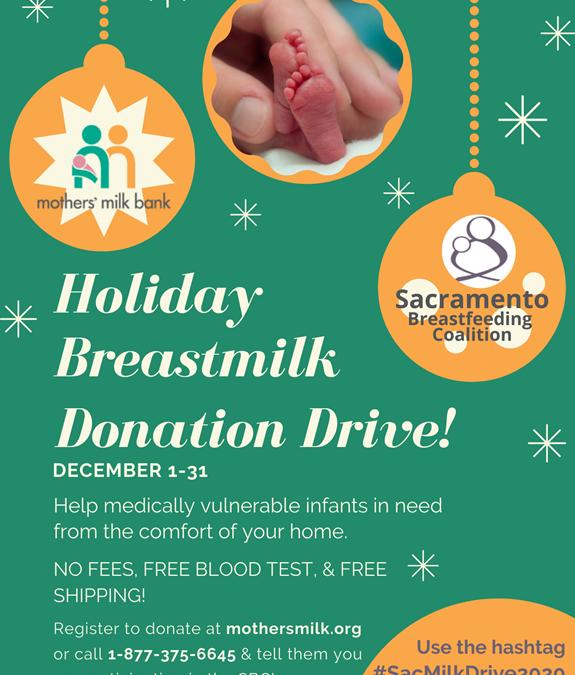 Virtual Holiday Breastmilk Donation Drive