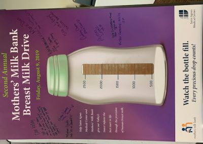 Ounces of Milk Donation Visual at Milk Drive